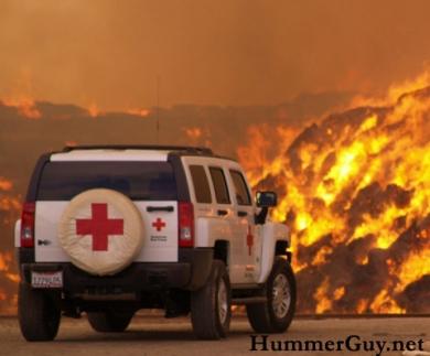 Хаммер борется с пожарами в Калифорнии