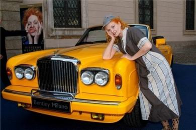 Вивьен Вествуд с Bentley в Милане