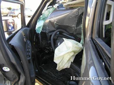 Хаммер врезался в грузовик битый Hummer
