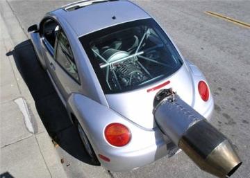 Jet Powered Beetle список самых жутких, сумасшедших и странных автомобилей прошло года