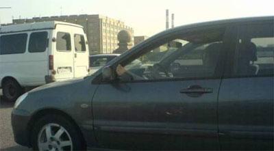 Жара в Москве действует водителям на нервы