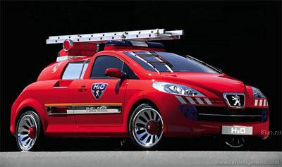 Peugeot пожарный автомобиль