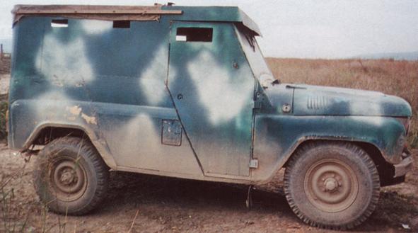 Военный автомобиль УАЗ ОМОНа