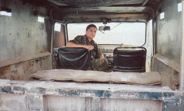 Военный УАЗ в Чечне